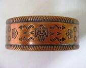 SALE Vintage Copper cuff Bracelet