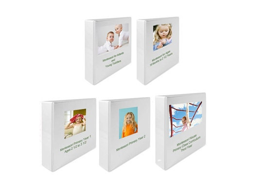 Montessori Curriculum Teaching Album Set: Five Album SET