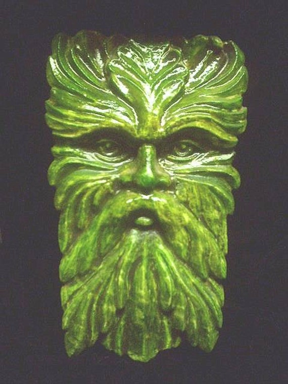Wise Old Greenman Wall Hanging Celtic Home Decor Gothic Pagan Large Garden Forest Man Nature Face