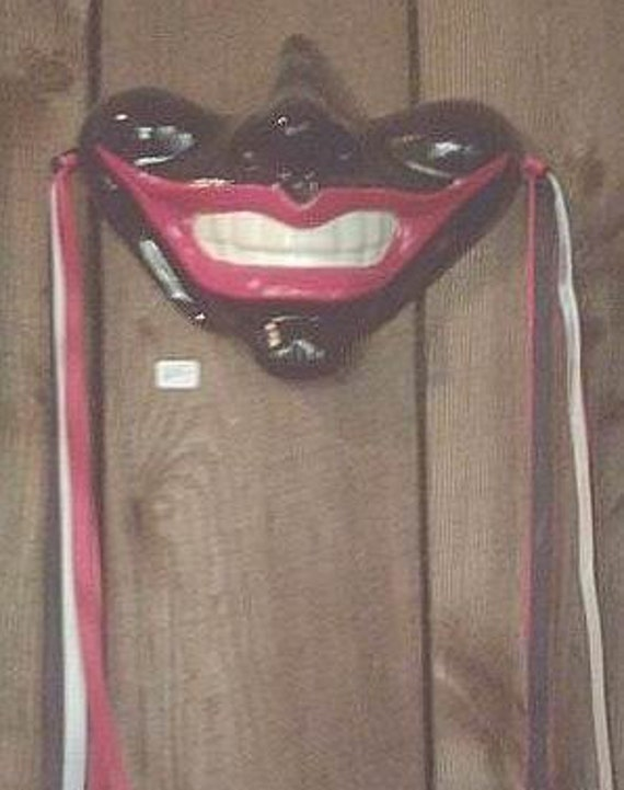 Smile Gothic Mask Medieval Jester Wall Decor by TheNeonGargoyle