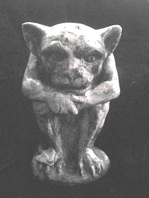 Gargoyle Baby Demon Statue Gothic Medieval by TheNeonGargoyle