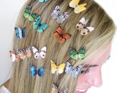 Set of 3 Butterfly Hair Clips - Hair Accessories For Women - Hair Bow Set - Butterfly Clips