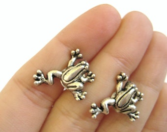Frog Cufflinks - Tree Frog Silver Cuff Links Animal Cufflinks