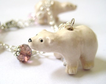 Polar Bear Jewelry - Christmas Bracelet Christmas Jewelry Winter Jewelry Animal Bracelet