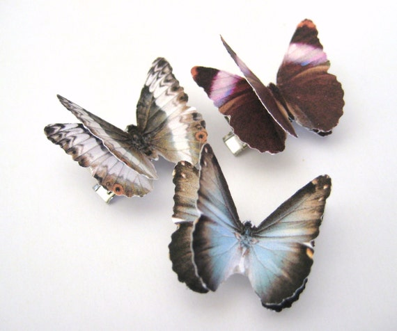 3pcs Butterfly Hair Clips