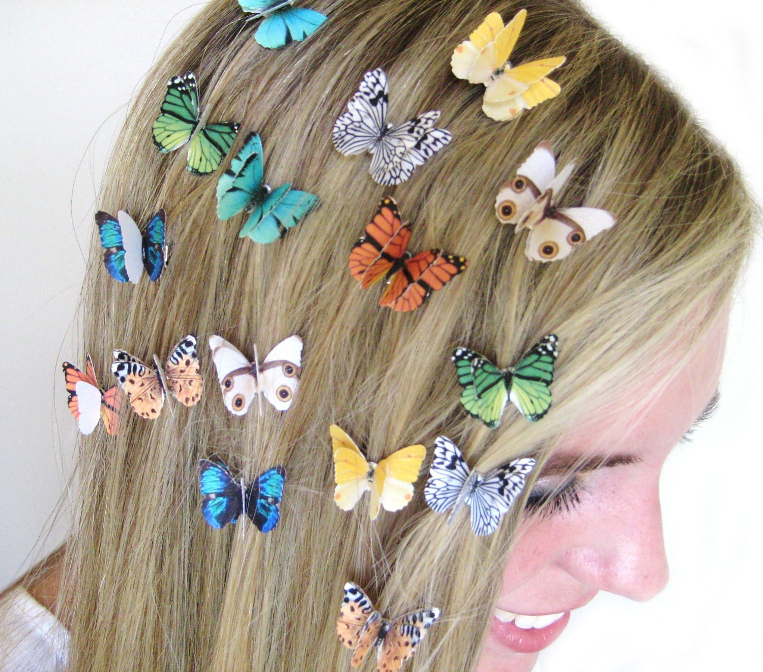 Butterfly hair accessories for weddings uk -  Zoom
