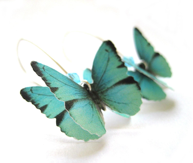Almost Real Butterfly Earrings Paper by SpotLightJewelry ... - photo#2