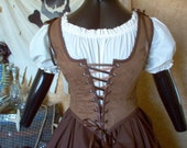Mocha Renaissance Bodice Plus Sizes Available Different Fabrics Available.