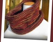 Knit Cowl / Neckwarmer - Hand Knit Cozy Prairie Wind Cowl