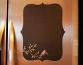 Chalkboard Vinyl Wall Decal (bird) - Great for the kitchen, office or anywhere in your home