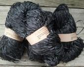 Habu Textile Shosenshi Linen Paper Yarn - Charcoal & Light Gray