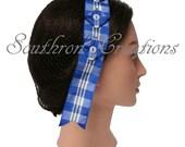 Civil War Hair Net - Blue Plaid