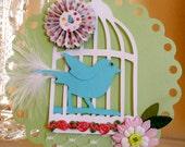 GreetingCard/ FREE U.S. SHIPPING/Song Bird
