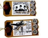 Reserved for Dharia Father's Day Steampunk Gift Tags/Set of 2/FREE U.S. SHIPPING/DAD