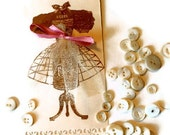 Gift Tags/ Set of 2/ Dressmakers Form / FREE U.S. SHIPPING/Raspberry and Chocolate Delight