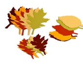 30 Autumn Leaves  Gift Tags   3 Styles  5 Colors Paper Crafting Supplies  Free U.S. shipping