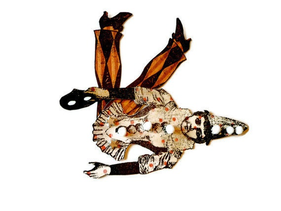 Paper Doll  Halloween Articulated Harlequin