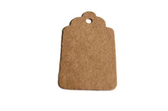 """50 Small Kraft Tags, Gift Tags, Price Tags, Mini Kraft Tags  Approx. 2"""" x 1 1/4"""" (5.1cm x 2.9cm)"""