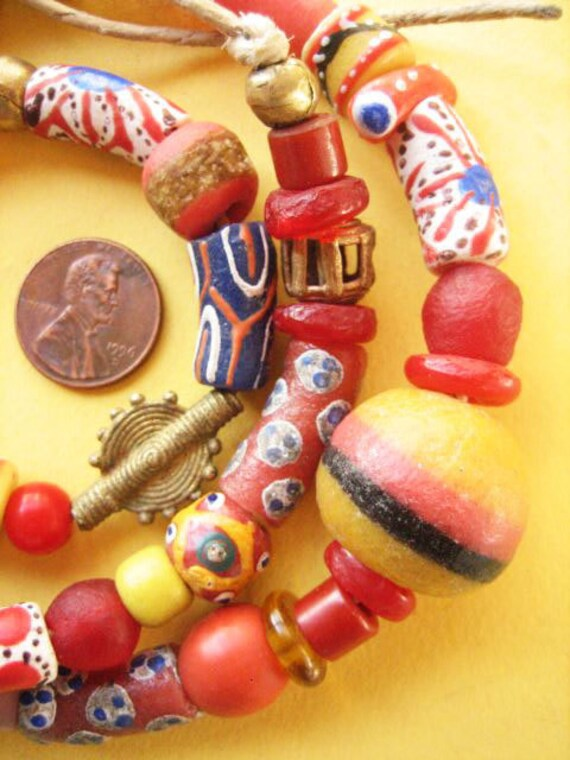 Mixed African Trade  Beads