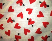 Arrow in Red Heart cotton fabric to celebrate Valentine ( HALF YARD )