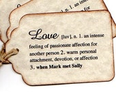 Wedding Favor Tags Sayings : DEFINITION of Love Hang Tags, PERSONALIZED Wedding Favor Tags Labels ...