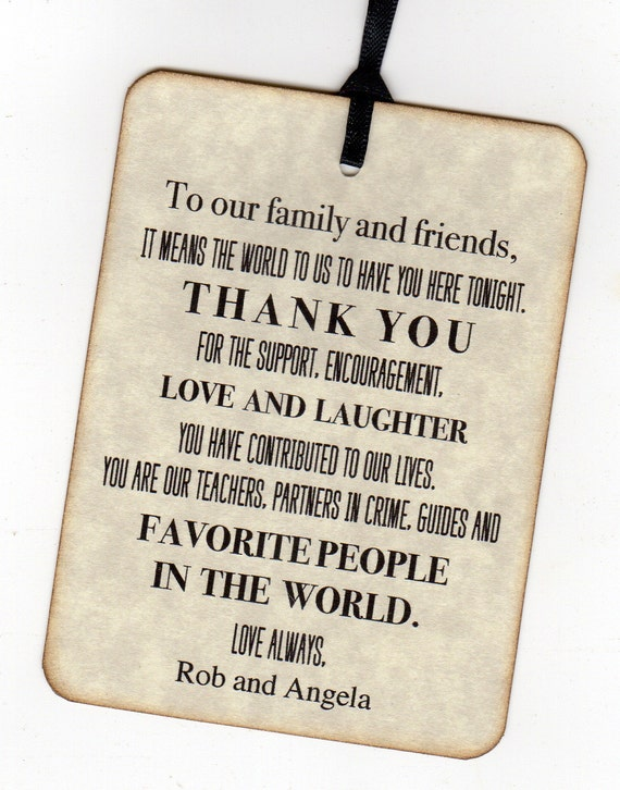 50 Wedding Reception Thank You Place Card Tags - Escort Tags - Vintage Style