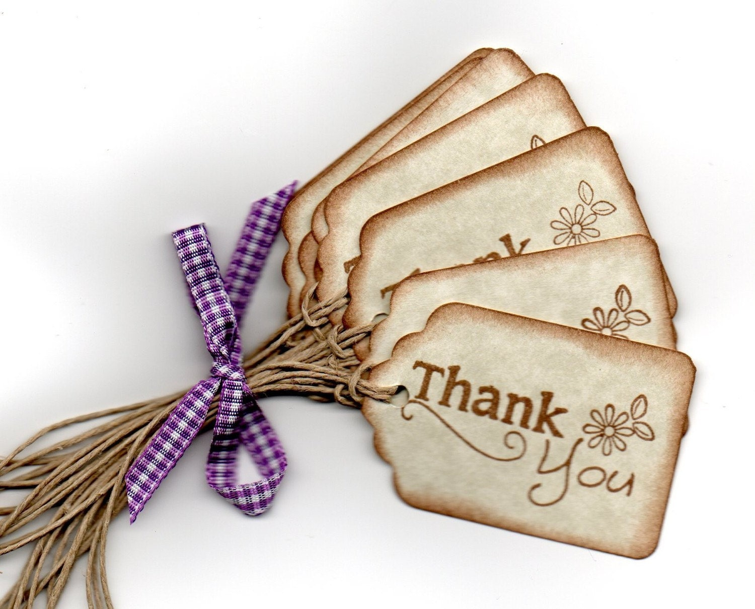 Thank You Tags Gift Tags Wedding Favor Tags Shower Favor Tags