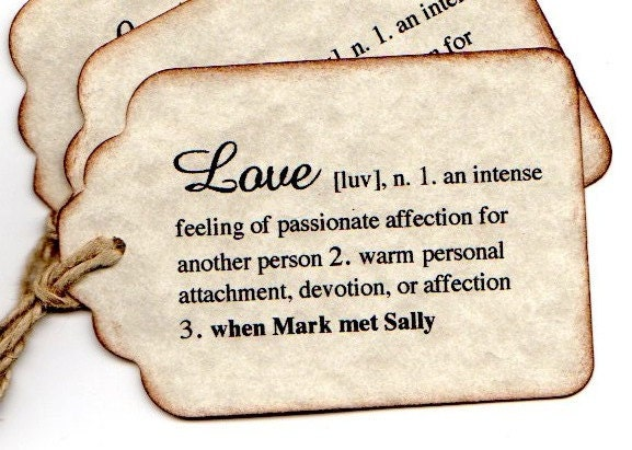 100 DEFINITION of Love Hang Tags PERSONALIZED Wedding Favor