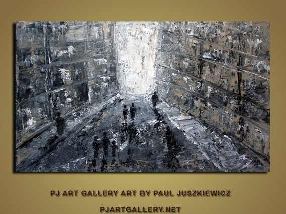 New York Boulevard abstract knife painting Paul Juszkiewicz