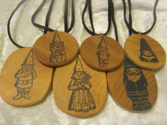 Original Gnomewear, handmade Gnome pendant on vegan cord