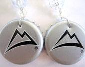 Coors Light Bottle Cap Earrings