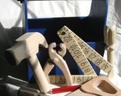 Ready To Go Wood Tool Box W/4 Just Right Size Tools