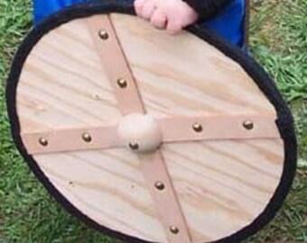Wooden Viking Round Shield