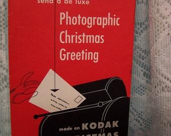 Vintage Advertising 1950 Kodak Photographic Christmas Card Order Form