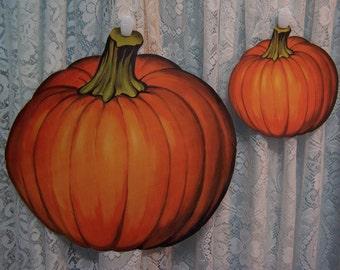 Pumpkin Cutout - Fall/Halloween/Thanksgiving Decorations ( 2 pc set) Jumbo & Mini