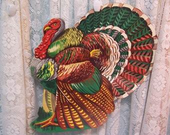 """Turkey """"gobbler"""" Cardboard Cutout Decoration"""