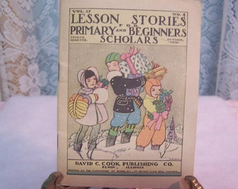 Lesson Stories for Primary and Beginners Scholars, Oct. 1936 (David C. Cook Pub.)