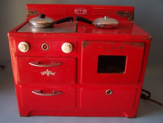Vintage Little Chef Toy Stove