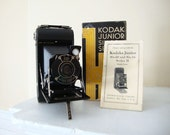 Vintage Kodak Junior Six-20 Camera, Manual and Original Box, 1937-1939
