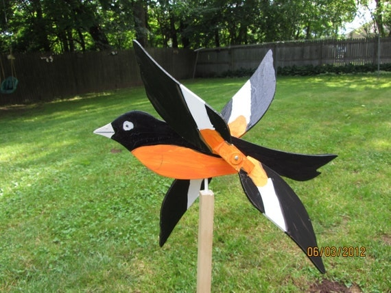 Wooden Bird Whirligigs