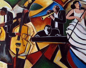 The Jazz Group, giclee