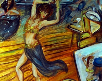 The Belly Dancer giclee