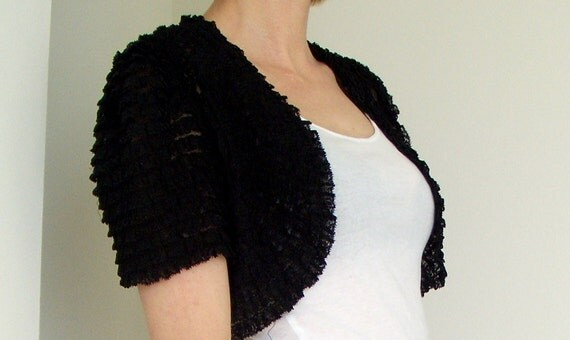 RESERVED FOR ELISA - 30s darling lace ruffle bolero