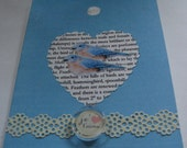 Blue Birds Collage Type Greeting Card
