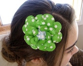 Lucky Day Jumbo Green Paper Mache Daisy Headband