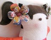 Sugar Buzz Daisy Paper Mache Hair Clips