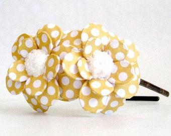 Sunny Day Daisy Paper Mache Headband