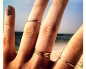 "Thin Gold Rings // ""Pretty Girl"" Stacking Rings // Set of Three, Five or Single 14K Gold Filled Handmade Rings and Knuckle Rings"