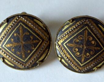 Vintage Art Deco Earrings - Vintage Jewelry - Vintage Clip On Earrings