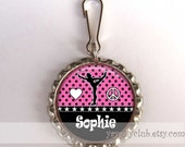 girls gymnastics party favors gifts for kids - Custom Personalized Zipper Pull Luggage Tag Charm - Customized color name